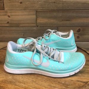 Nike Free In Tiffany Blue and Grey Size 7